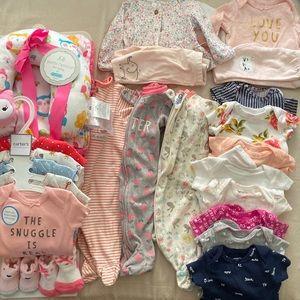 Newborn girl lot